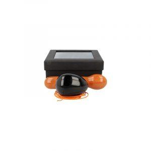 Yoni Massage Set Obsidian - Aventurin Orange