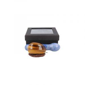 Yoni Massage-Set Tigerauge - Blauer Quarz