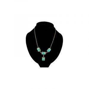 Silberne Halskette Türkis