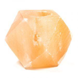 Salzkristall-Teelichhalter Diamant