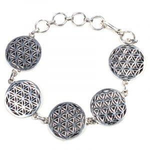 Armband Blume des Lebens Silberfarben