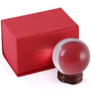 Kristallkugel mit Holzstandard (5 cm)