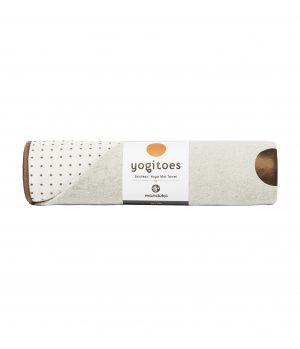 Manduka Yogitoes Skidless Yoga Handtuch – Earth - Weiss - 173 x 61 cm