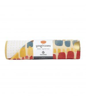 Manduka Yogitoes Skidless Yoga Handtuch – Binda Squares - Multicolor - 173 x 61 cm