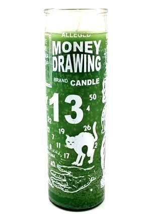"""Bedruckte Kerze """"Money Drawing"""""""