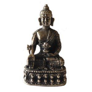 Metall-Statue Mini-Medizin-Buddha (8,2 cm)