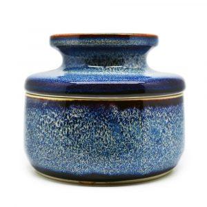 Rund Keramisches Vorratsgefäß Blau