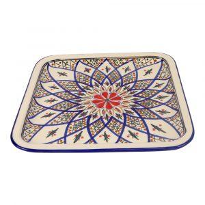 Quadratische Untertasse Keramik Tabarka (28 x 28 x 3 cm)