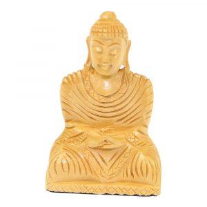 Statue aus Holz Buddha Gautam sitzend (8 x 5 x 2 cm)