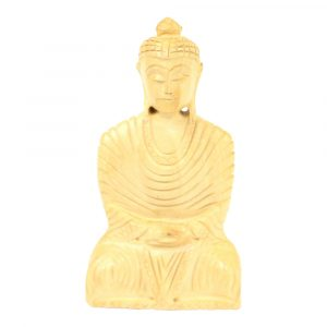 Statue aus Holz Buddha Gautam sitzend (10 x 6 x 2 cm)