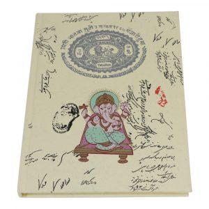 Notizbuch Hardcover Ganesha Groß