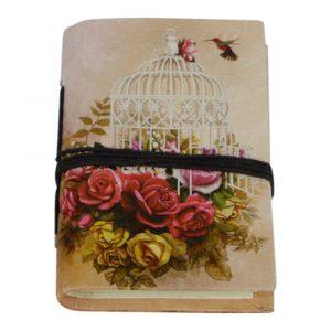 Notizbuch Klein Vogelkäfig Rosa