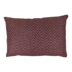 Zierkissen aus Baumwolle Zigzag Violett XL (Rechteckig mit Füllung)
