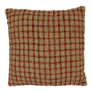 Zierkissen aus Baumwolle Mumbai Braun/Rot (mit Füllung)