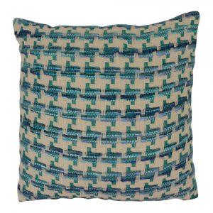 Zierkissen aus Baumwolle Lanzarote Blau (mit Füllung)
