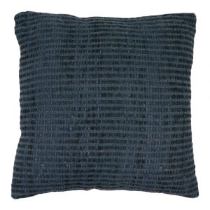 Zierkissen aus Baumwolle Montreal Blau XL (mit Füllung)