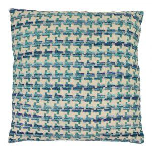 Zierkissen aus Baumwolle Lanzarote Blau XL (mit Füllung)