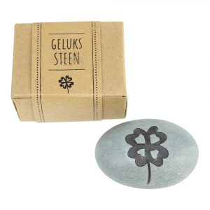 Glücksstein aus Speckstein Vierblättriges Kleeblatt
