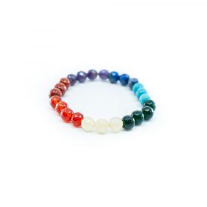 Edelstein Facetten Perlen Armband 7 Chakren