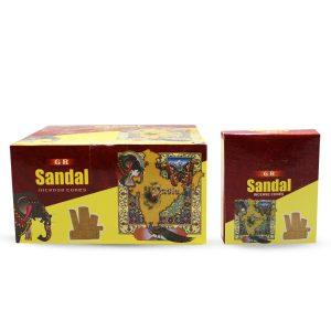 GR Räucherkegel Sandelholz (6 Packungen mit 10 Kegel)