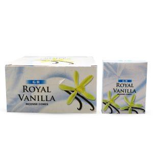 GR Räucherkegel Royal Vanilla (12 Packungen á 10 Kegel)