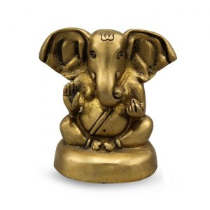 Messing Statue Ganesh (6 cm)
