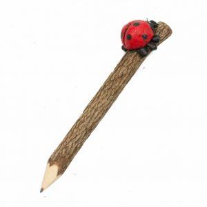 Bleistift mit Marienkäfer (20 cm)