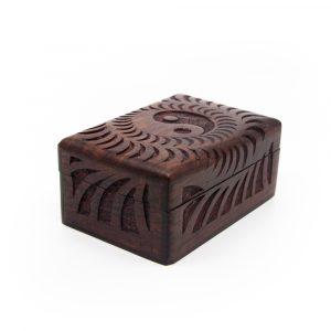 Aufbewahrungsbox Haltbares Holz Yin Yang Handgefertigt