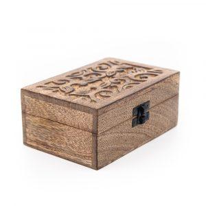 Aufbewahrungsbox Nachhaltiges Holz Floral Handgefertigt