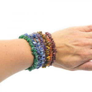 7 Chakren Splittstein-Armband Set
