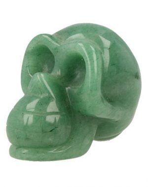 Edelstein Schädel aus Aventurin grün (45 mm)