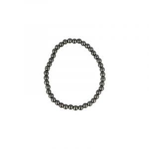 Hämatit-Perlen Kinderarmband (4 mm)