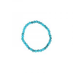 Howlite Blau Perlen Kinder Armband 4 mm (farbig)