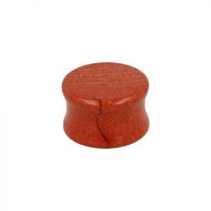Ohr Plug Flesh Tunnel Jaspis Rot (20 mm)