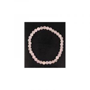 Rosenquarz-Perlen Kinderarmband (4 mm)
