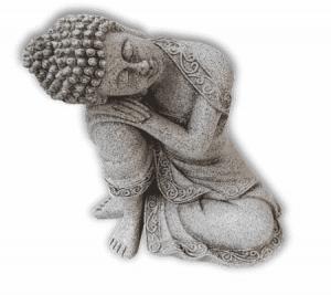 Ruhender Buddha (Steingrau - 19 cm)