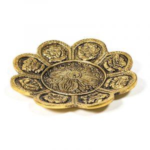 Räucherstäbchenhalter 8 Glückssymbole goldfarbig