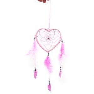 Traumfänger Herz Rosa - 25 cm