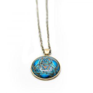 Blaues Mandala Goldene Halsband