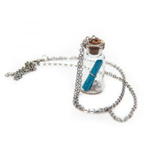 Wunschkette - Flaschenpost Blau