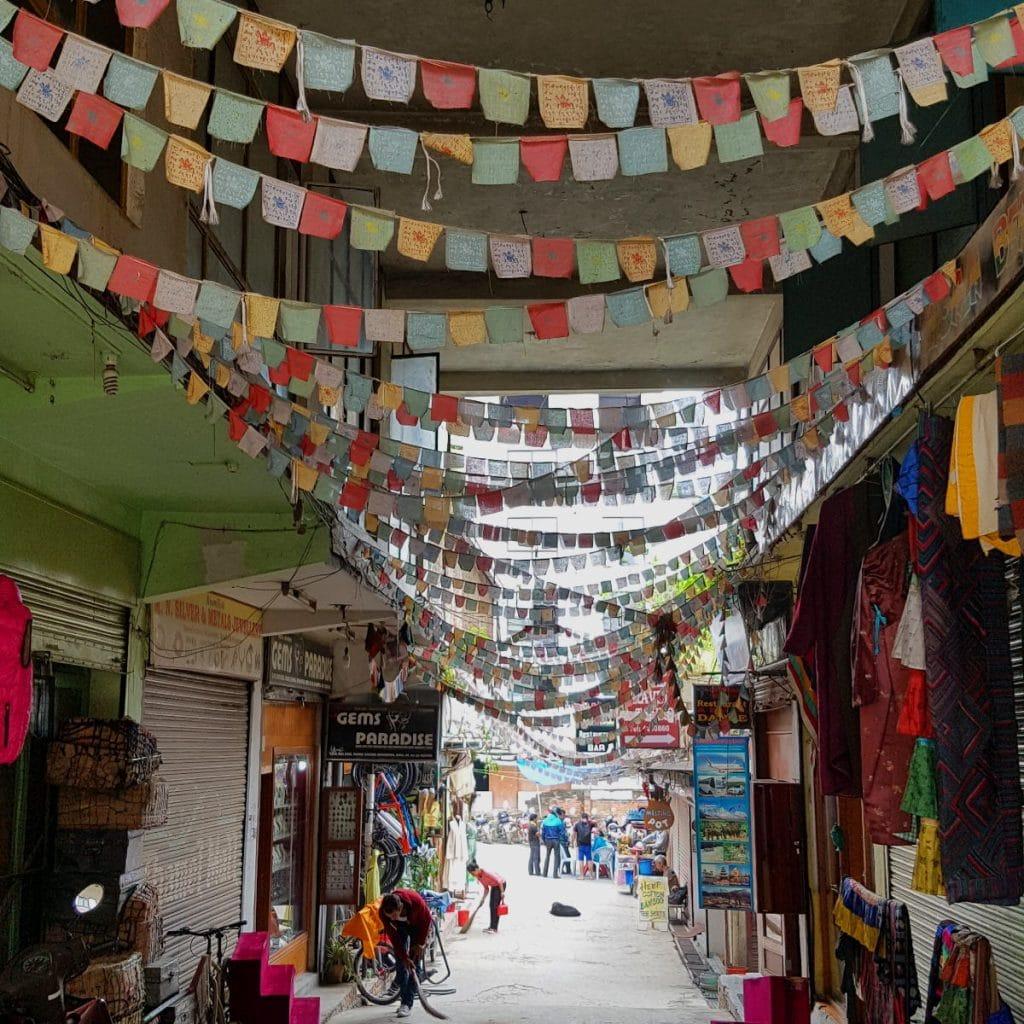 Tibetische Gebetsfahnen Nepal