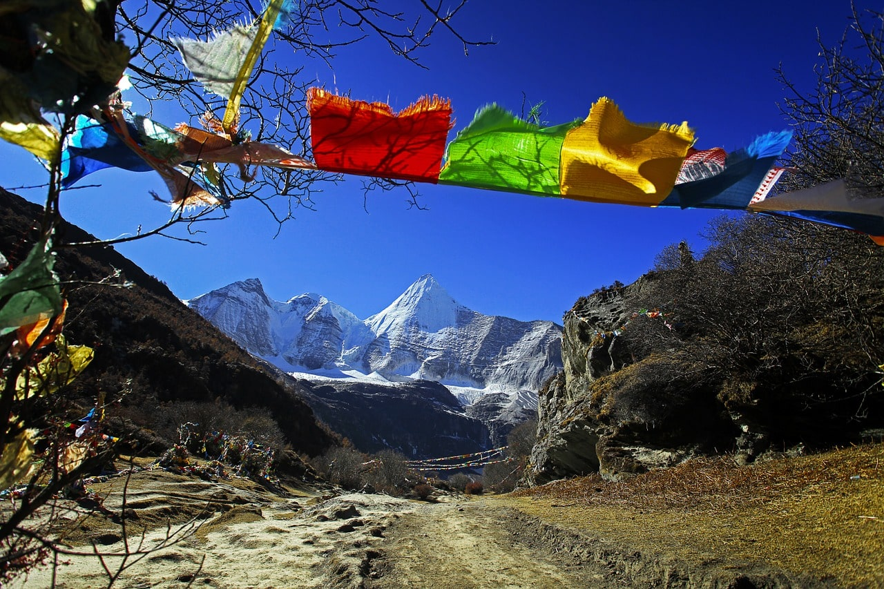 Tibetische Gebetsfahnen