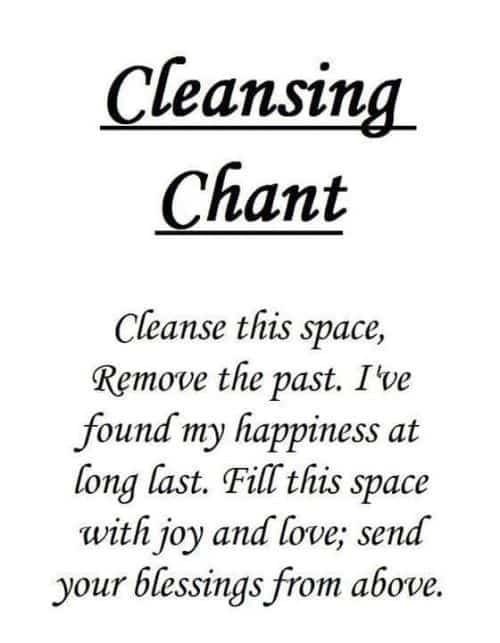 Reinigung Spruch cleansing chant für Hausreinigung mit weißem Salbei