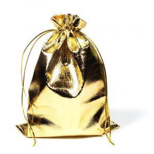 Geschenktäschchen goldfarbig