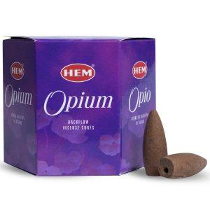 HEM Backflow-Räucherkegel Opium (12 Kegel)