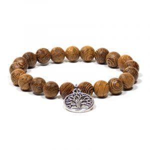 Mala/Armband Wengeholz elastisch Baum des Lebens