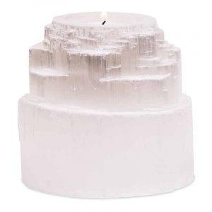 Teelichthalter Selenit Divine Waterfall