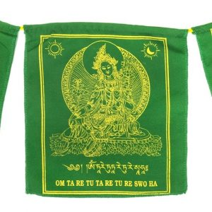 Tibetische Gebetsfahnen Grüne Tara