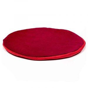 Flaches Kissen für Klangschale rund rot (15 cm)