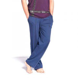 Yogahose Comfort Biobaumwolle Herren blau S-M